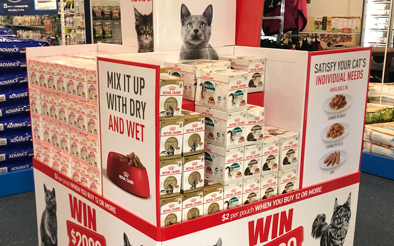 Royalcanin Retail Display Pallet